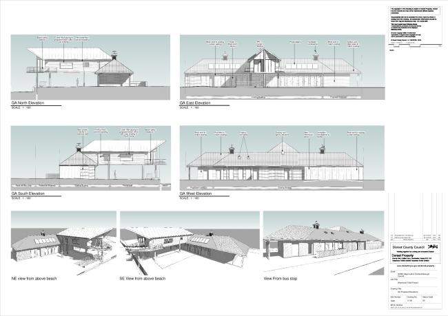 Plans for the new seafront loos