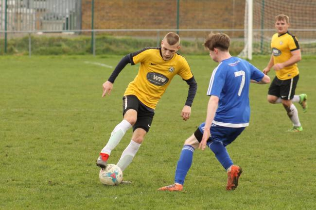 HAT-TRICK HERO: Danny Andrews, left, plundered three goals for Balti 		           Picture: STEVE HUNTER
