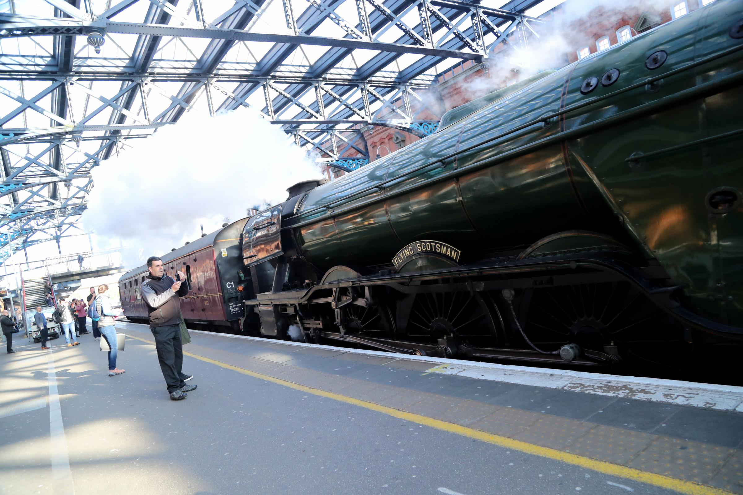 Farewell Flying Scotsman...iconic locomotive leaves Dorset