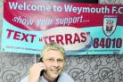 MOBILE MONEY: Ian Ridley launches the new Text Terras scheme to raise funds for the club