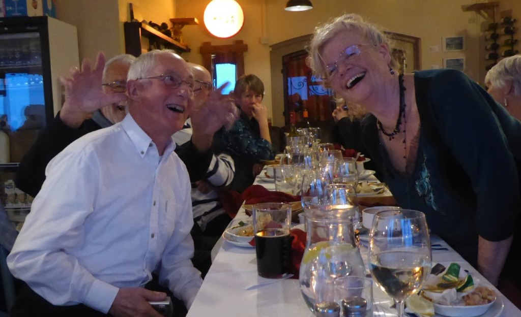 ALL SMILES: WPCA's Jim and Lyn Long at the Fitting Out Supper 		       Picture: SARA LLOYD