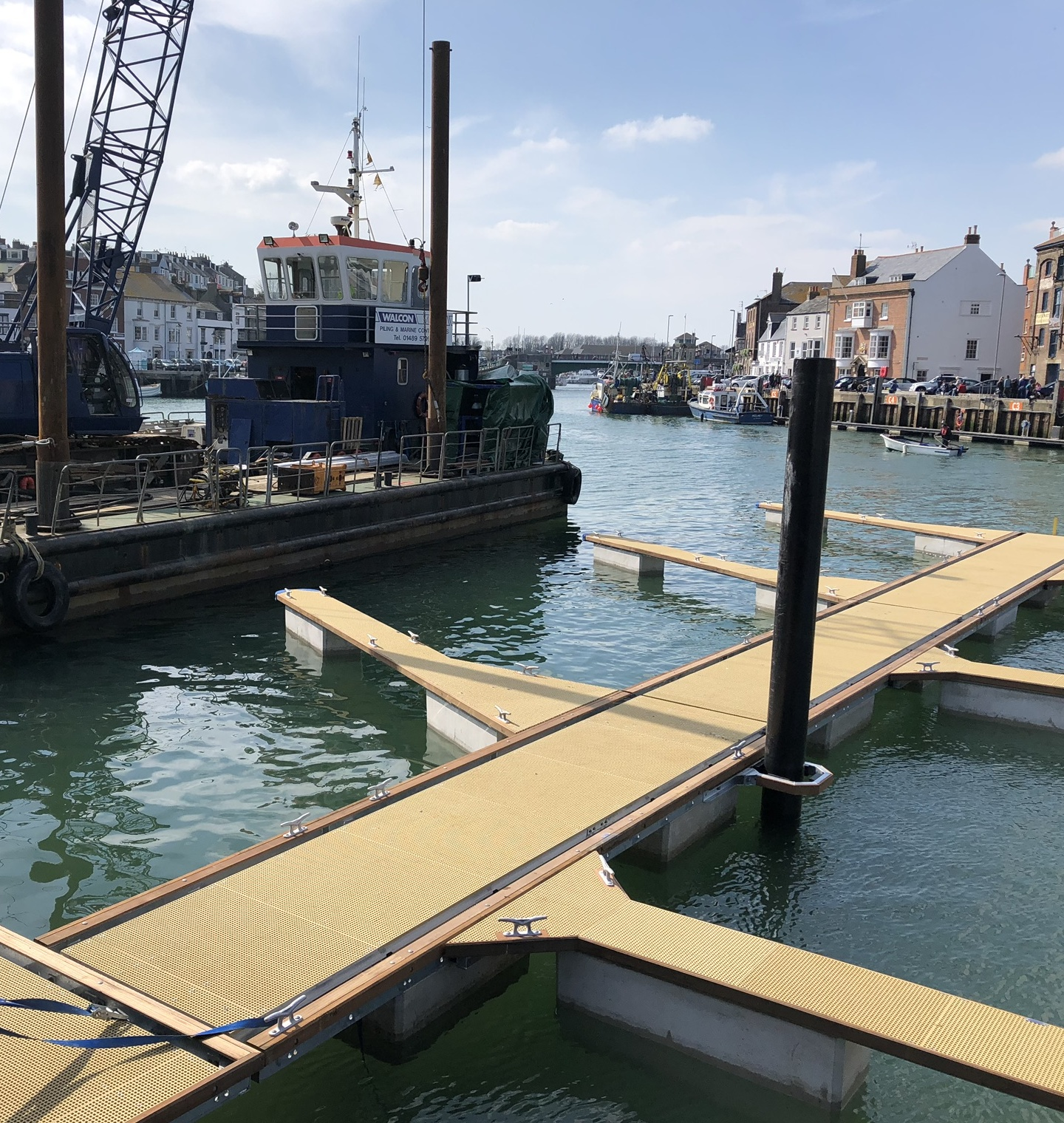 NEW PONTOONS: Weymouth Sailing Club               Picture: WSC