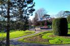 GREEN OASIS: Sunny winter scene in the Borough Gardens, Dorchester by Margaret Wellspring