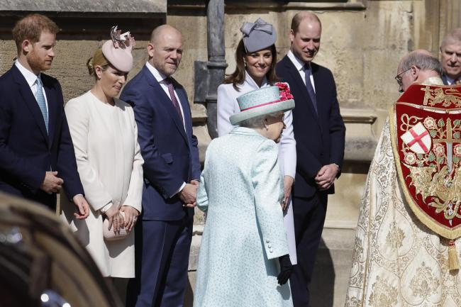 The Queen arrives at the Easter Mattins service
