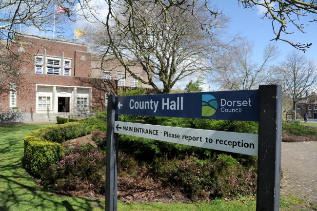 County Hall, Dorchester with new logo, 02/04/19, Picture: FINNBARR WEBSTER/F20237.