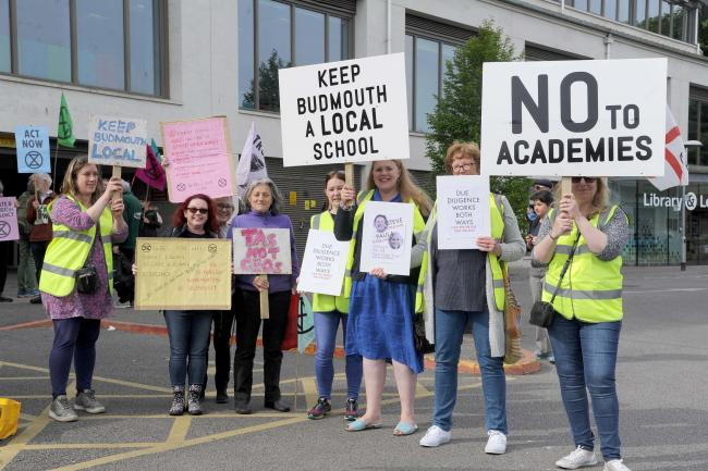Budmouth academies protest, Dorchester, 16/05/19, Picture: FINNBARR WEBSTER/F20304.