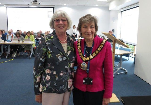 Pauline Batstone (right) with the chair of the shadow council Hilary Cox  Picture: Trevor Bevins