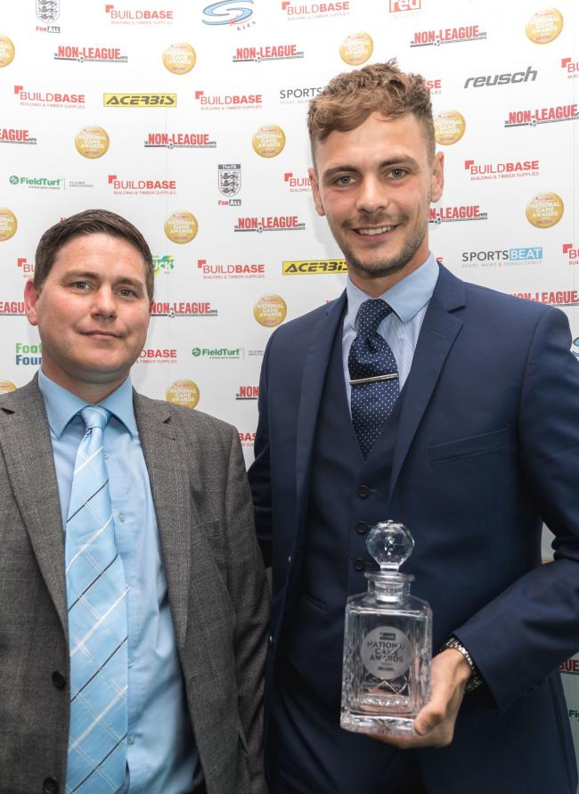 TROPHY: Brandon Goodship with his award