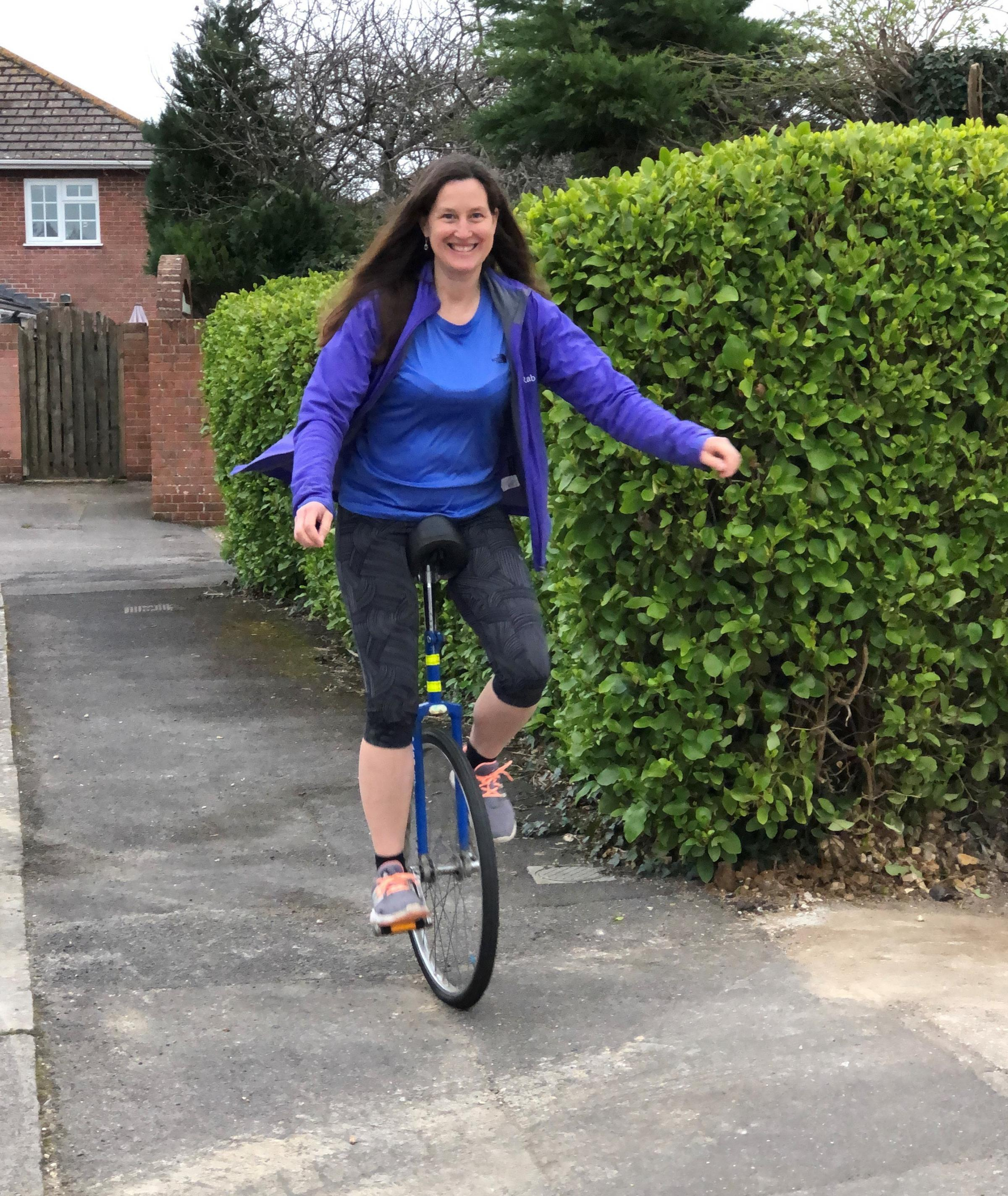 Here's why this woman will ride a unicycle through Weymouth