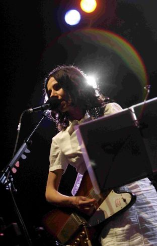 ON STAGE: PJ Harvey performs