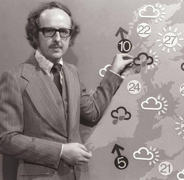 BRIGHTER, LATER: Michael Fish in his BBC forecasting days