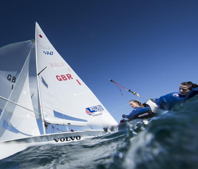FRENCH AIM: Hannah Mills and Eilidh McIntyre