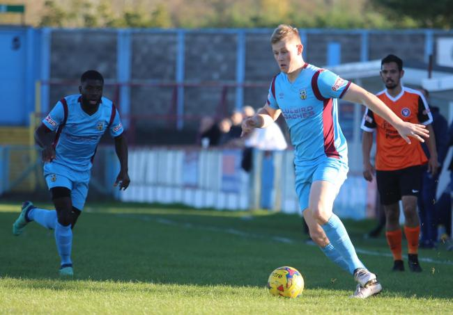 LOOKING TO IMPRESS: Callum Buckley for Weymouth                                    Picture: MARK PROBIN