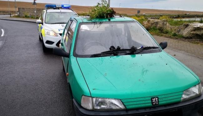 Police pulled the car over on Portland Beach Road as it was uninsured. Picture: Weymouth and Portland Police