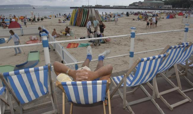 2nd August 2006. Weymouth beach feature. Deck chairs. Picture: Brian Jung / bj2261.